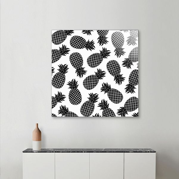 Discover «Pineapple In Black», Numbered Edition Acrylic Glass Print by Amaya Brydon - From $75 - Curioos @curioos #pineapple #wallart
