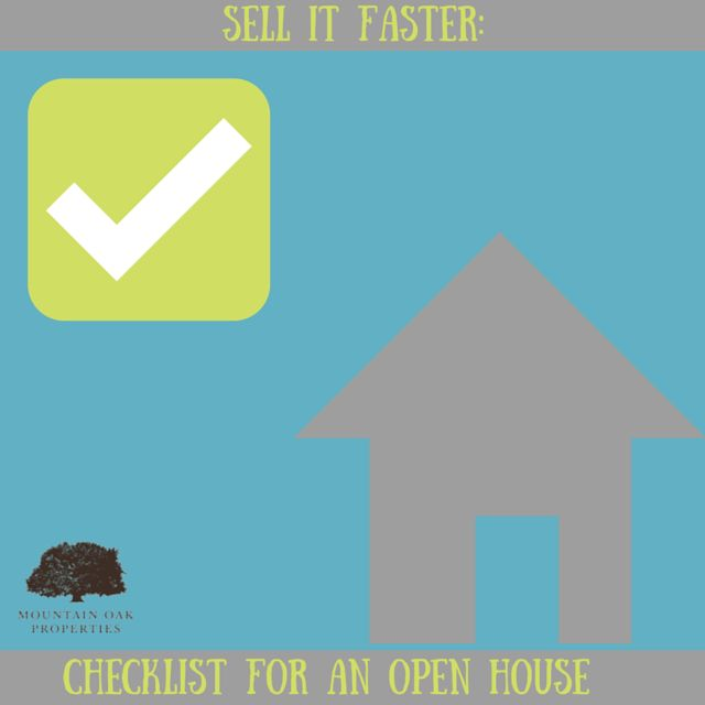 Are you considering putting home on the market soon? Prior to doing so and scheduling an open house for potential buyers, go through this checklist to ensure your home is spotless and ready for viewing…