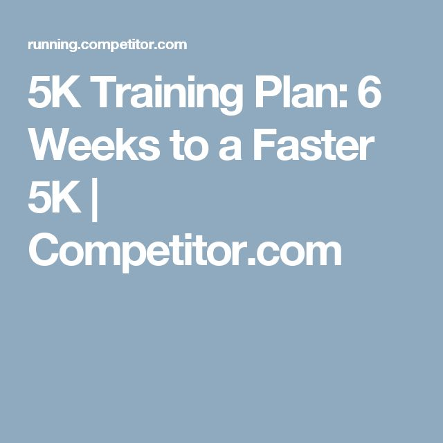 how to train for a 5km run in 8 weeks
