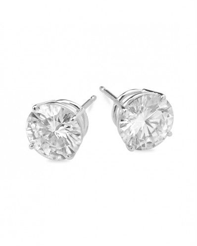 Bravo - 0.50 - 5.50ctw Round Forever Brilliant® or Classic Moissanite Earrings, 14k White or Yellow Gold