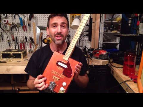 ▶ Install a Magnetic Pickup, Florentine Screamer: Cigar Box Guitar How To - YouTube