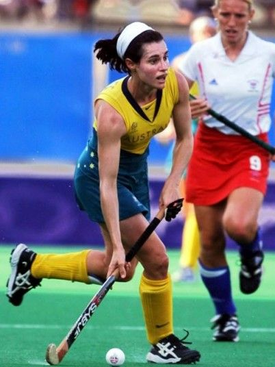 Rechelle Hawkes - Australia Captain of the Hockeyroos for eight years until 2000, Hawkes is regarded one of Australia's greatest sporting captains. The Western Australian is one of only two Australian females to win three Olympic gold medals at three separate Games.