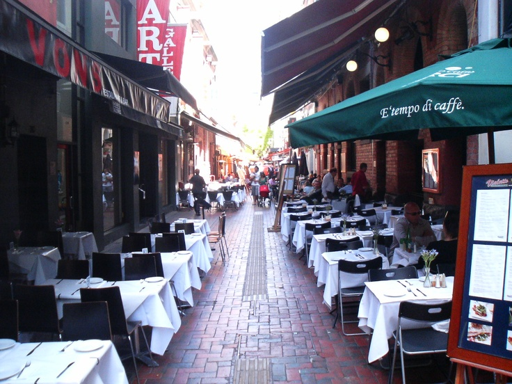 Hardware Lane in the great dining precinct of Melbourne. One of many memorable dining experiences in Melbourne.