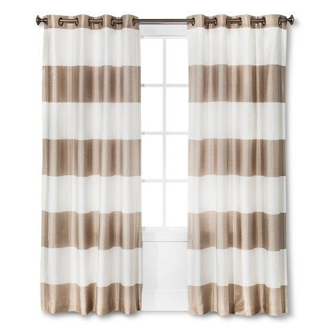 Curtains Ideas brown white striped curtains : 17 best ideas about Stripe Curtains on Pinterest | Black white ...