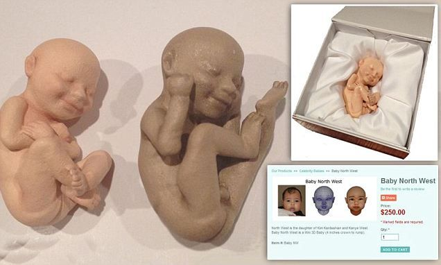 3D Babies takes an ultrasound scan of your baby and creates a customized figurine, with the correct facial features, body position and skin tone of the child.