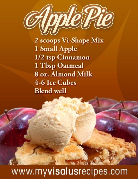 Apple Pie Shake | Body By Vi 90 day Challange | Pinterest