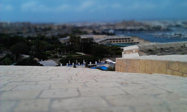 Peek at our hotel pool, Malta