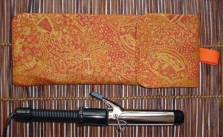 Spiral Curling Iron Storage, Insulated Curling Iron Bag, Curling Iron Holder, Flat Iron Holder, Curling Iron Pouch, Curling Iron Bage by JMockingbirds on Etsy