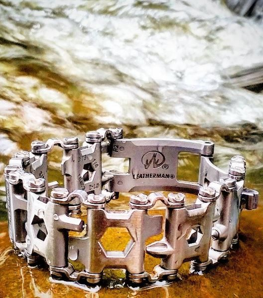 Leatherman - Tread Bracelet, The Travel Friendly Wearable EDC Multi-Tool, Stainless Steel (FFP) - Everyday Carry Gear