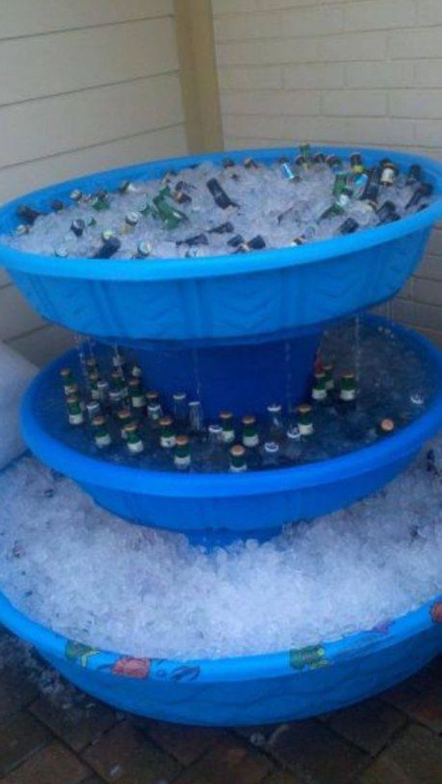 freezer fountain for drinks So cute if painted black !!!! This would be cute for a kids birthday party outside...