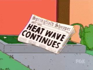 Heat Wave Continues GIF - Heat Heatwave Melting GIFs - hot weather