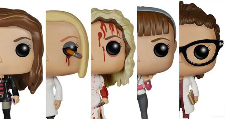 Orphan Black Funk Pop.....OMG Rachel has a pencil in her eye! I need these!