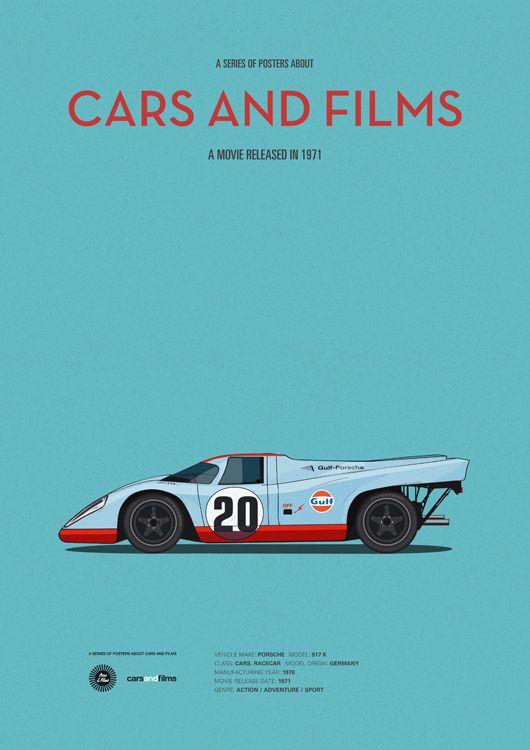 Le Mans (1971) ~ Minimal Movie Poster by Jesus Prudencio ~ Cars and Films Series