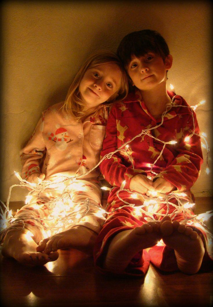 Christmas Card photo - lights