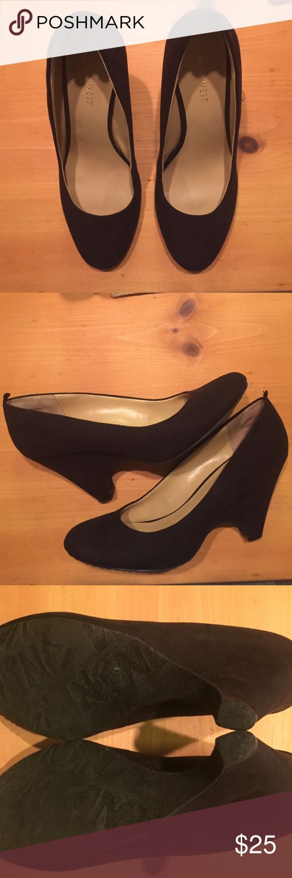 Nine West Regional Pump. Sz 7 Nine West Regal Pump. Sz 7. Fabric upper. 3 1/2 wedge. Round Toe. Gently worn. Shoes