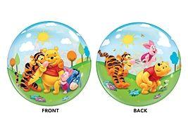 Palloncino Winnie the Pooh, Bubble diam.56 cm. doubleface. VENDUTO SGONFIO e gonfiabile sia ad aria che ad elio. Per decorazioni, Feste a tema e Feste di Compleanno. Disponibile da C&C Creations Store