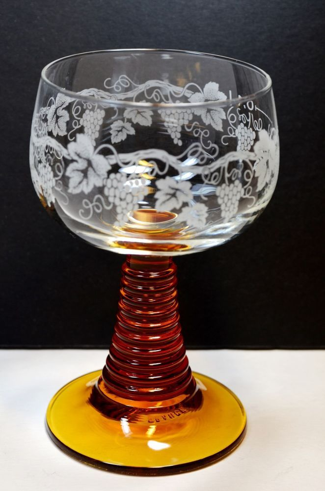 Antique Roemer Wine Glasses