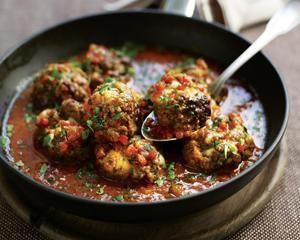 Mozzarella meatballs and spaghetti recipe: Recipes: Good Food Channel