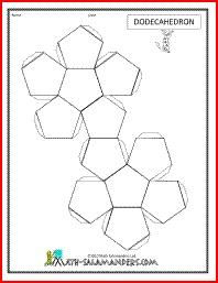 3d geometric shapes dodecahedron net tabs