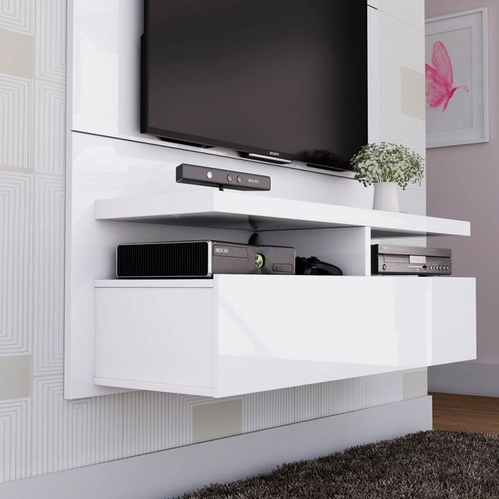 Painel para Tv Zeus 1.2 Branco Gloss