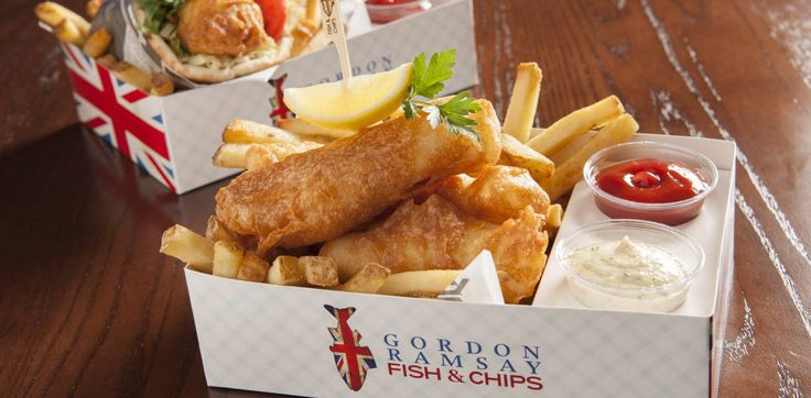 Gordon Ramsay Fish & Chips is a casual and fun cheap eats spot in Las Vegas