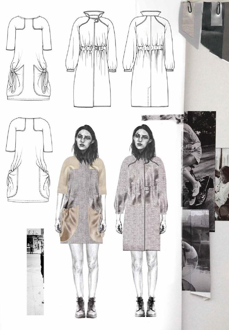 Fashion Sketchbook - fashion design drawings; fashion student portfolio // Joanna Fisher