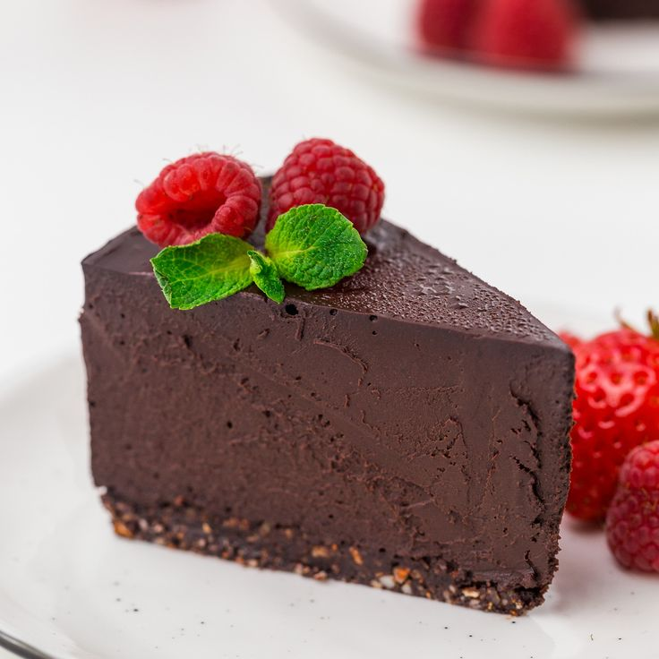 This paleo chocolate cheesecake is also vegan and super rich and decadent! Made with coconut milk, sweetened with dates and coconut sugar, this cheesecake is a little healthier than your traditional cheesecake. The crust is also no-bake, meaning this vegan cheesecake is also raw.