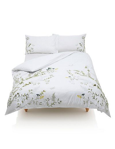 Botanical Embroidered Bedding Set | M&S