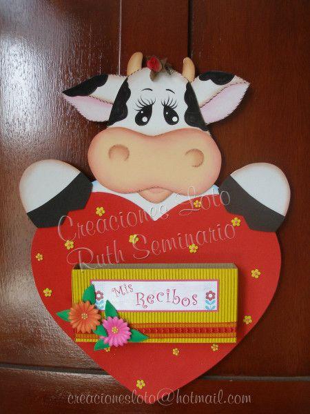 Vaca porta-recibos