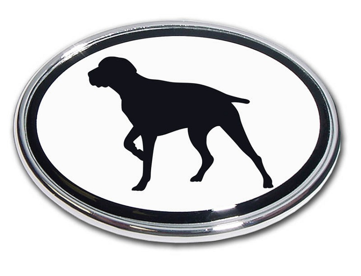 This German Pointer Oval Chrome Emblem is a great way to show Pride on your Ride. Makes a great gift. Made in the USA.  http://www.prideonmyride.com/German-Pointer-Oval-Chrome-Emblem_p_527.html: Dog Emblem, Birddog Oval, Car Emblems, Pointer, Car Decals Bumper