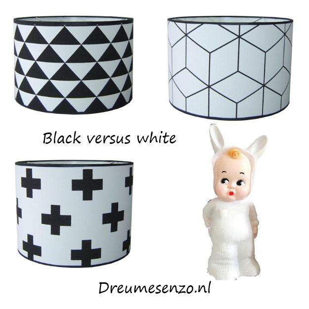 Zwart met wit voor de kinderkamer! Nieuwe hanglampen.