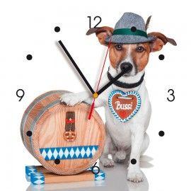 Horloge murale déco Contento - chien bavarois