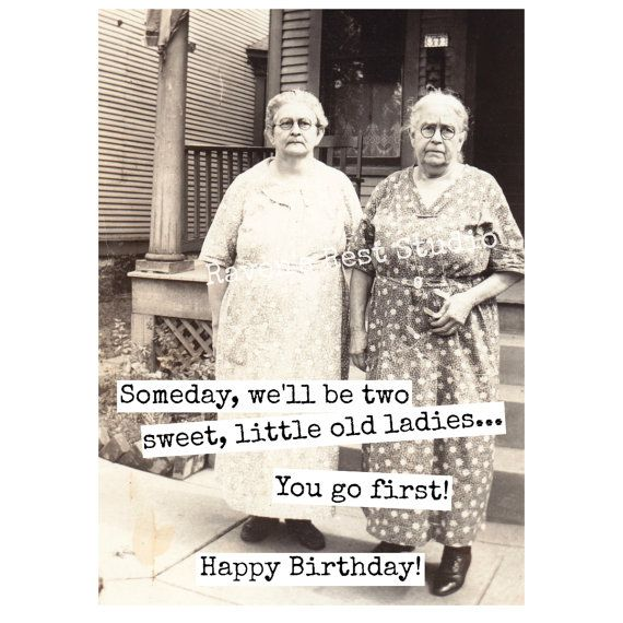 Card 406b Funny Birthday Card Someday We Ll Be Two Sweet