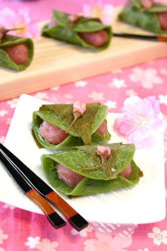 桜あんと抹茶生地で♡ おしゃれな桜餅の作り方
