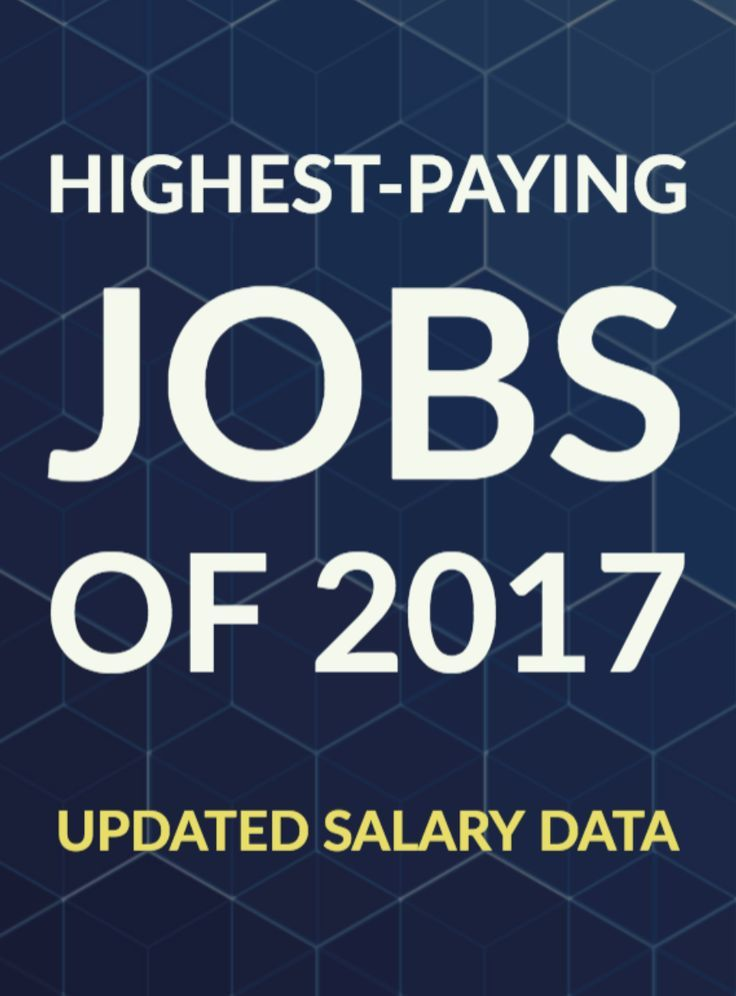 HighestPaying Jobs of the Year High paying jobs, Paying