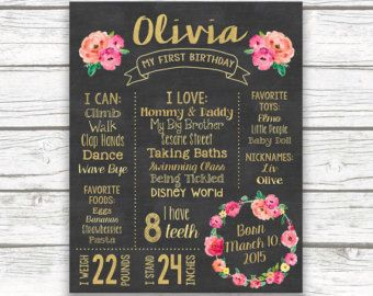 First Birthday Boho Peach Pink Chalkboard Sign Wild One