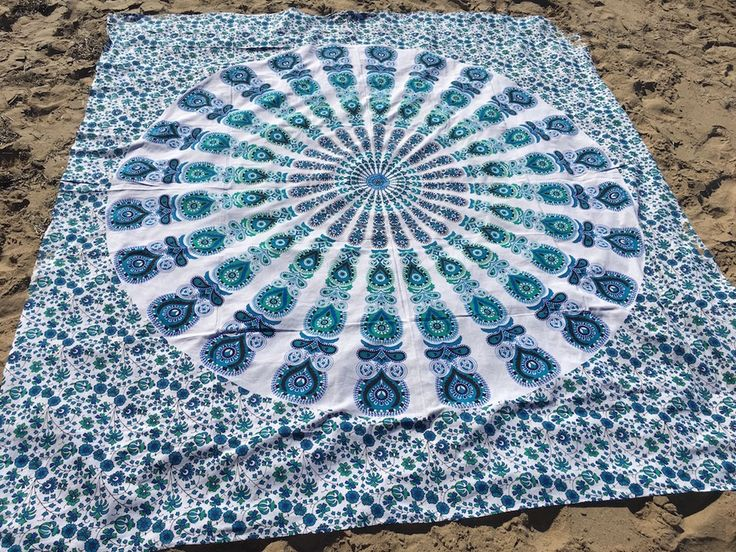 ☾❂☽  Blue Peacock Mandala ☾❂☽ www.thirteenblessings.bigcartel.com