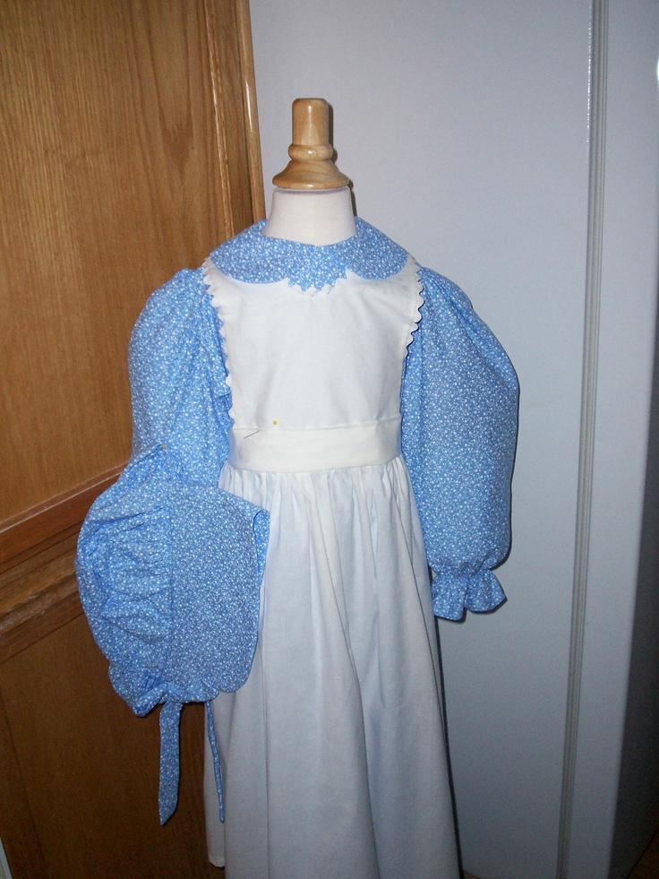 Girls Pioneer Dress(long or short sleeves) / Little House on the Prairie costume -  with Bonnet and Pinafore