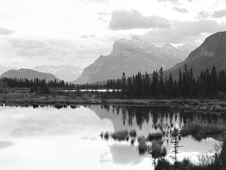 Mount Rundle early evening, Banff, AB, Canada. Christian Ward, Contax 645, TRI-X 400