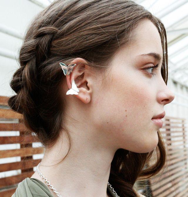 miss butterfly ear cuff