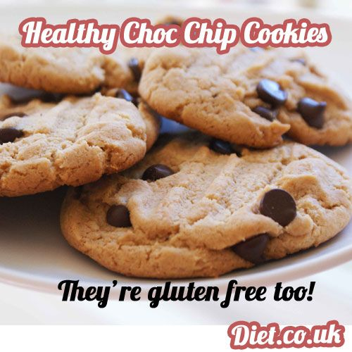 Healthy Sweet Treat Choc Chip Cookies, you can find this recipe plus loads of FREE healthy desert recipes at our Diet.co.uk facebook page here... https://www.facebook.com/Diet.co.uk #DietUK