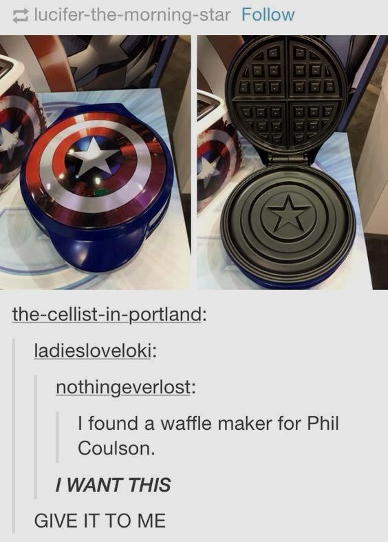 Marvel  Captain America Shield Waffle Maker       Deal of the day >>>  http://amzn.to/2claRzc