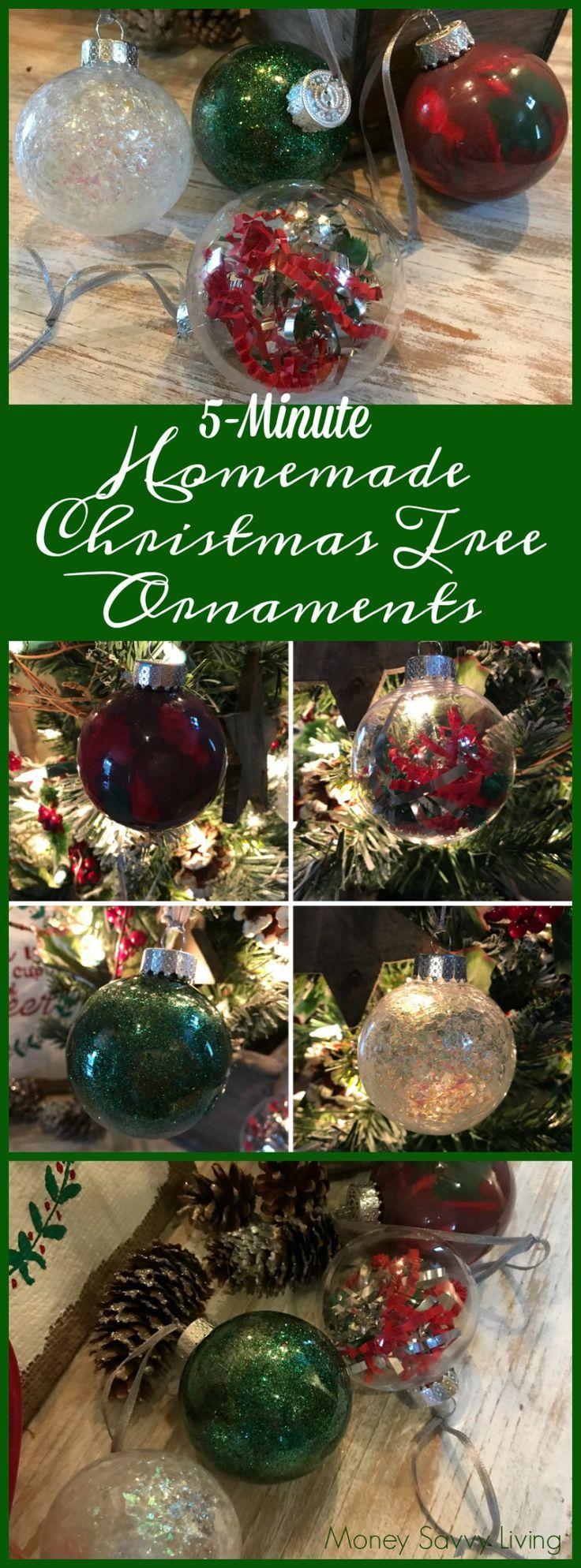 5-Minute Homemade Christmas Tree Ornaments // Money Savvy Living #christmas #christmastree #ChristmasOrnament #ornament