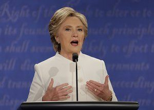 Debate fact-check: Hillary Clinton and Donald Trump's claims reviewed caption: Hillary Clinton speaks during the third presidential debate.