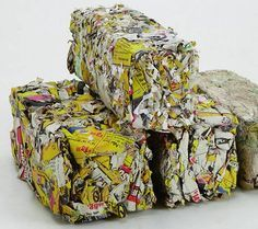 Using either molds made out of items found around the home, or a dedicated press, you can create your own fire logs out of recycled newspapers.