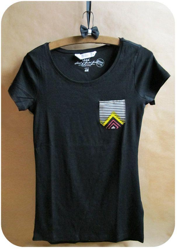 Déco poche sur t-shirt
