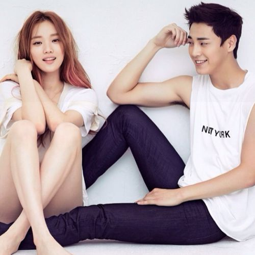 Lee Tae-Hwan and Lee Sung-Kyung for CeCi, July 2014 source (x)