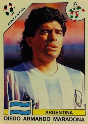 El 10, mundial Italia 1990.