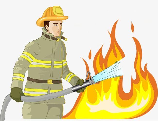 Детский рисунок тушение пожара