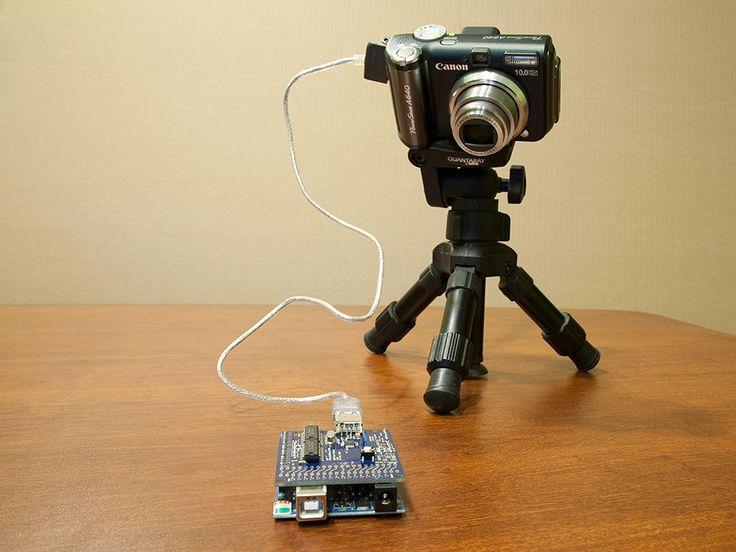 Digital camera control using Arduino USB Host Shield